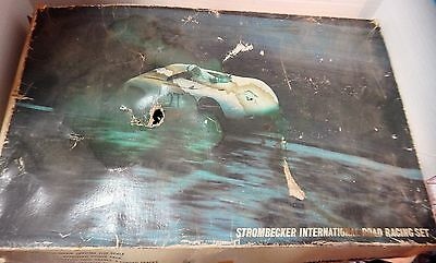 Strombecker No.9935 International Road Racing Set in Original Box w/Cars