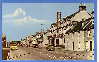 SUPER 1959c OLD CARS ON STREET INVERGORDON RP PHOTO VINTAGE POSTCARD