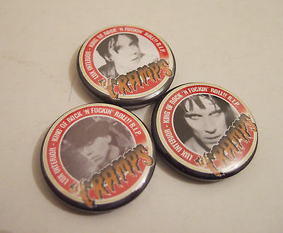 Psychobilly The Cramps Lux Tribute badges x3