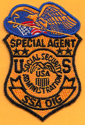 F20 * Ssa Inspector General Federal Agency Ice Fbi Atf Dea Irs Police Patch