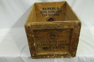 Standard Oil Company Wood Cup Grease Oil Can Box Crate