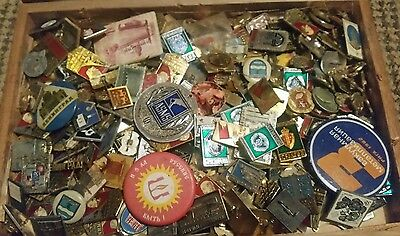 Large collection of Soviet Russian military/Sporting badges