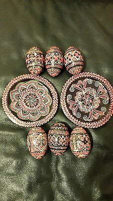 Decorative Egg Ornaments With Matching Coasters