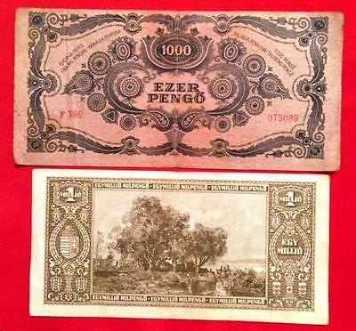 HUNGARY - Used Banknotes x 3