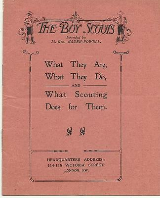 1909 Very Early Booklet The Boy Scouts What They Are & What They Do Baden Powell