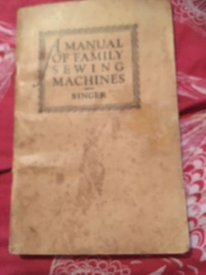 A Manual Of Family Sewing Machines Singer