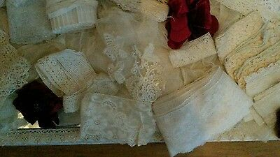 Old, Victorian & Vintage Lace Pieces, Trimmings & Roses