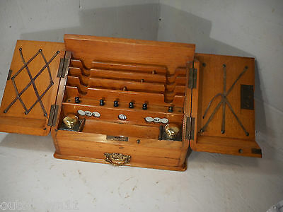 Antique Golden Oak Stationery Cabinet , Perpetual Calendar  ref MC1105mmy