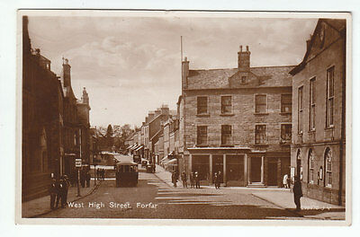West High Street Forfar Angus Graham Drapers 1930 Real Photograph Posted 1936