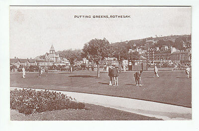 Putting Greens Rothesay Isle Of Bute Early 1900's ETW Dennis No 30 Old Postcard