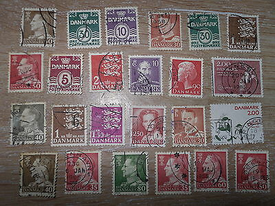 Collection Of Used Denmark Stamps