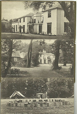 FOLDER OF GILWELL PARK POSTCARDS - EARLY 1920's BOY SCOUT TRAINING BADEN POWELL