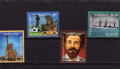St Kitts 1986 Statue Of Liberty Sg215/8 Mnh