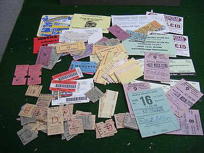 pot luck Collection of old used railway / bus tickets etc.