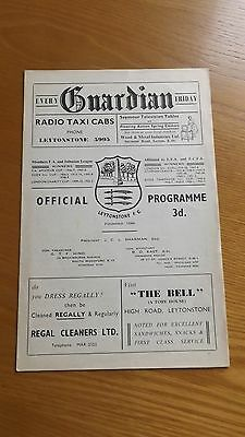 LEYTONSTONE v OXFORD CITY - Isthmian Lge 1958/59