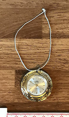SPARES REPAIRS Vintage Buler Necklace Watch Bright Yellow Gold Floral Setting