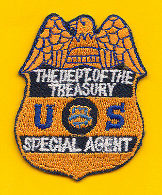 N2 * Atf Treasury Officer Gold Usc Ins Federal Agency Ice Fbi Swat Police Patch