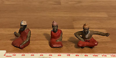 3 Vintage Painted Lead Toy Soldiers Persian Converts Inc Camel Rider