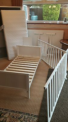 Mothercare  AYR Cot bed White NEW with MATTRESS