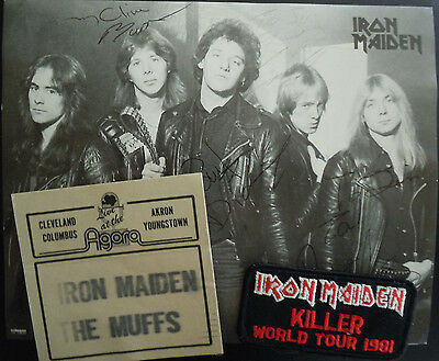 "IRON MAIDEN ""Killers"" Tour 1981 Promo Photo AUTOGRAPHED By Entire Band + Bonus"