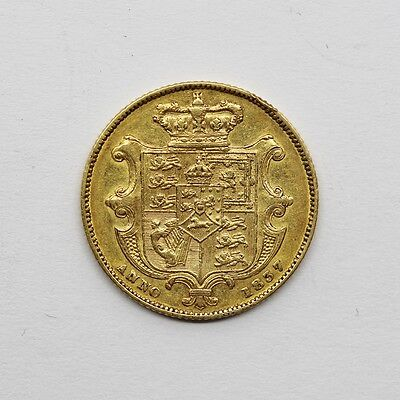 Rare 1837 William IV 22ct Gold Shield Back Full Sovereign Coin
