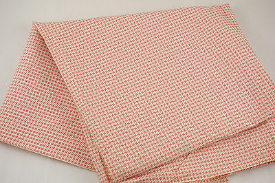 """Vintage Fabric 2 Yards 36""""W Little Pink Pinwheels Quilt Craft Sewing"""