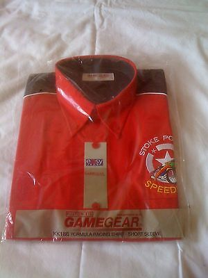 Stoke Potters Speedway Short Sleeve Shirt With Logo (Brand New Still In Bag)