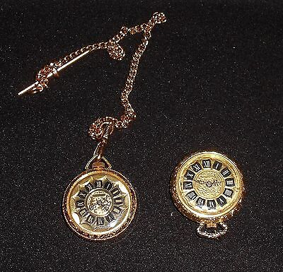 2 Swiss Made Wind Up Ladies Pendant Watches - Ingersoll & Chancellor