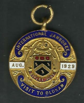 1929 Boy Scout World Jamboree Medallion Visit To Oldham - Baden Powell In Camp