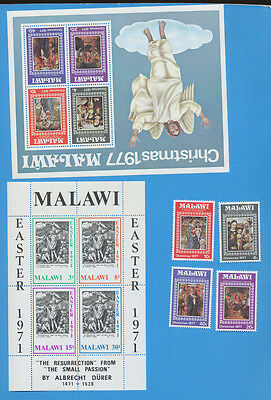 MALAWI - sc 171a S/S & 311-4 & 314a S/S - VFMNH - Christmas 1977 & Easter 1971
