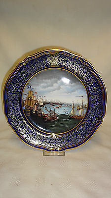 Limited Edition Spode Armada Series Collector Plate No3 Launch Of The Fireships