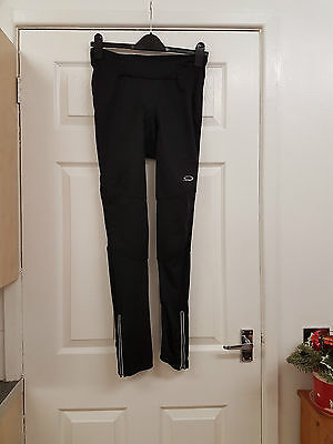 Ladies Black Padded Cycling Trousers Size Small Make Is Crane