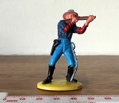 Vintage Painted Plastic American Cowboy Made in Hong Kong for Britains