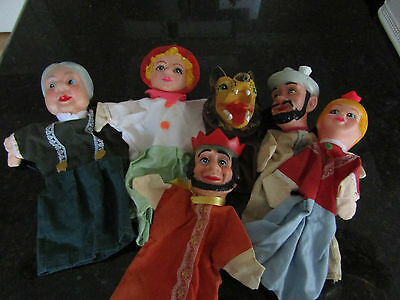 Vintage Hand Puppet Lot Little Red Riding Hood and Others