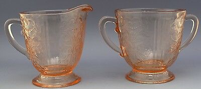 American Sweetheart Depression Glass Sugar & Creamer Set NO RESERVE Collection