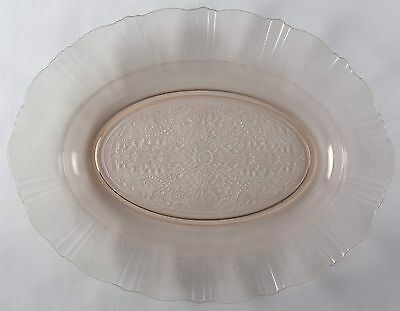 """Two 13"""" American Sweetheart Depression Glass Oval Platters NO RESERVE Collection"""