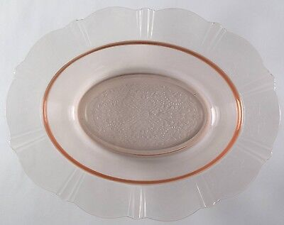 """Three 11"""" American Sweetheart Depression Glass Vegetable Bowls NO RSV Collection"""