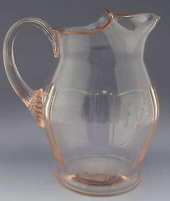 RARE American Sweetheart Depression Glass Pitcher - 60 oz NO RESERVE Collection