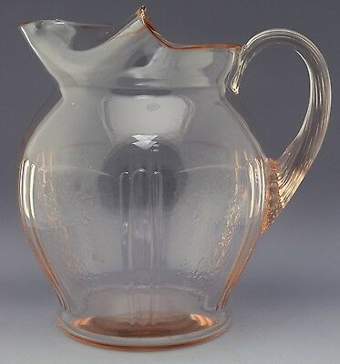 RARE American Sweetheart Depression Glass Pitcher - 80 oz NO RESERVE Collection
