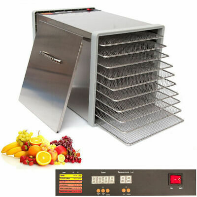 10 Tray Stainless Steel Food Fruit Dehydrator with Stainless Steel Trays