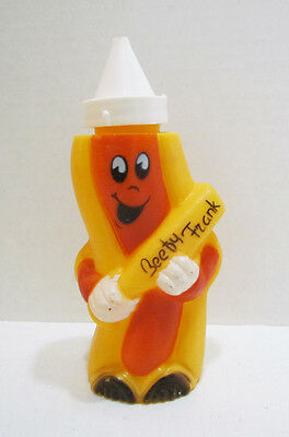Kahn's Hot Dogs Beefy Frank Advertising Ad Figure Figural Mustard Squeeze Bottle