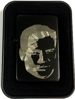 Captain James Kirk Star Trek TOS Black Engraved Cigarette Gift Lighter LEN-0206