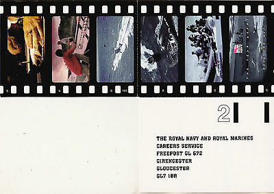 THE ROYAL NAVY AND ROYAL MARINES CAREERS SERVICE 2 POSTCARD SET 2010s UN-POSTED