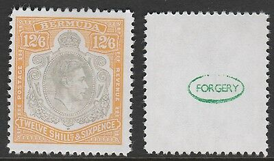 Bermuda (874) 1938 KG6 12s6d -  a Maryland FORGERY unused