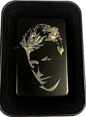 David Bowie Black Engraved Cigarette Gift Lighter LEN-0209