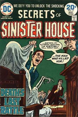 SECRETS OF SINISTER HOUSE #17 VG/F, Howard Chaykin art, DC Comics 1974
