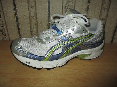 PRE-OWNED women's ASICS white, blue, yellow SPEVIA athletic shoes - size 6