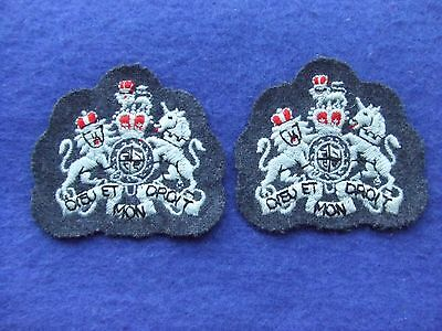 A Pair Of 1960's Royal Air Force/raf Station Warrant Officers Arm Rank Badges