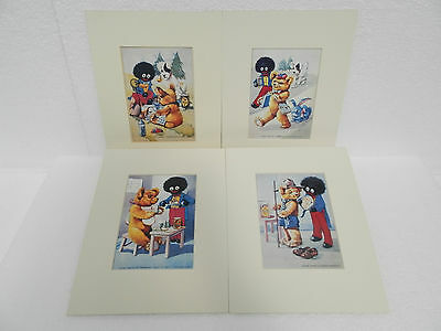 Set of  (4) Mounted Postcards ~ Playtime Series B - The Robert Opie Collection