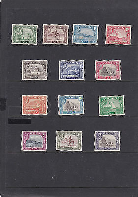 Aden 1939 King George Vi Pictorial Full Set To 10 Rupee   Sg.16-27 Mlh